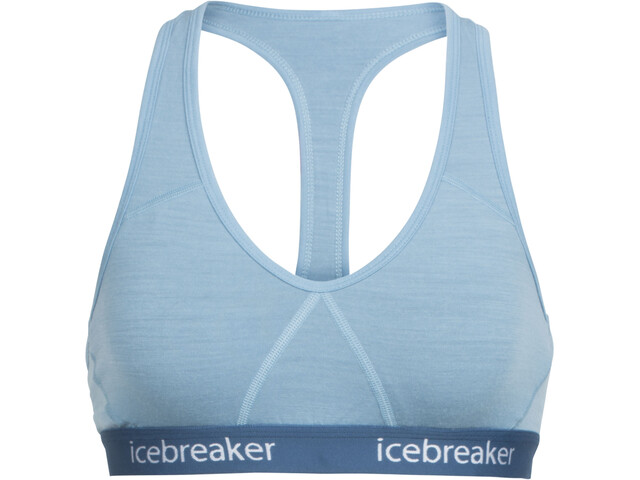 Icebreaker Sprite Racerback Bra Damen waterfall/prussian blue
